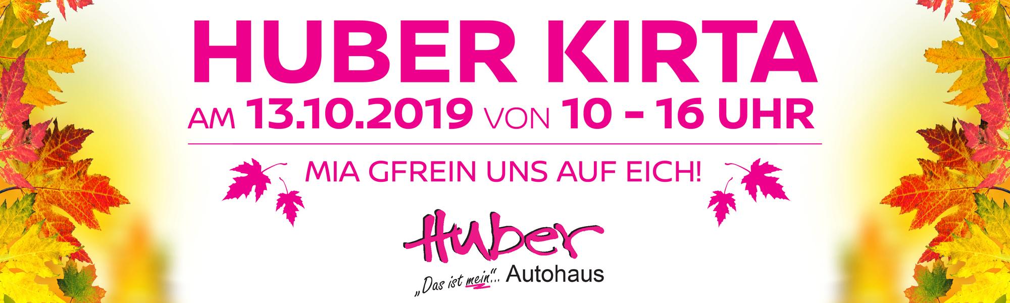 Einladung zum Huber Kirta 2019